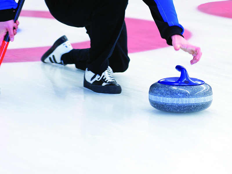 initiation curling Crans-Montana