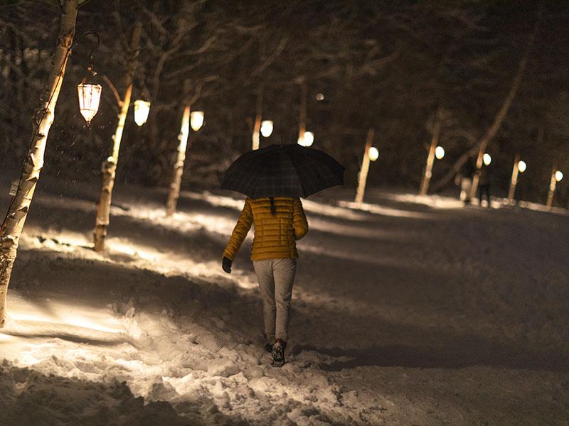 chemin des lanternes crans-montana