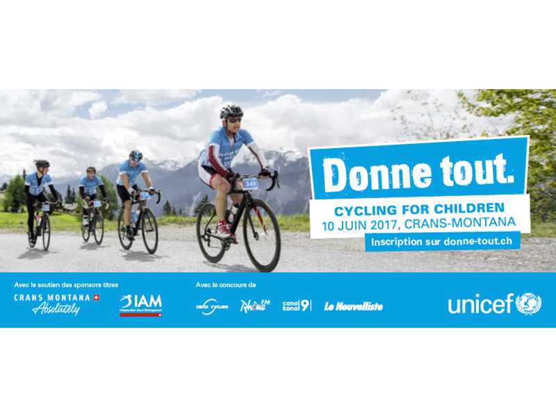 cycling for children crans-montana