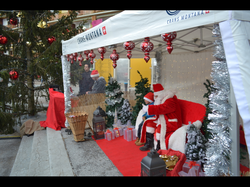 Crans-Montana welcomes Santa Clause